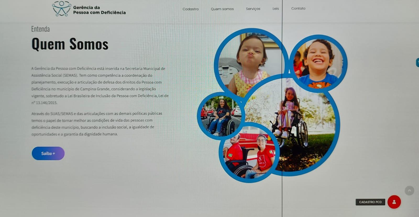 Prefeitura de Campina Grande lança site e Guia de Direitos e Benefícios da Pessoa com Deficiência