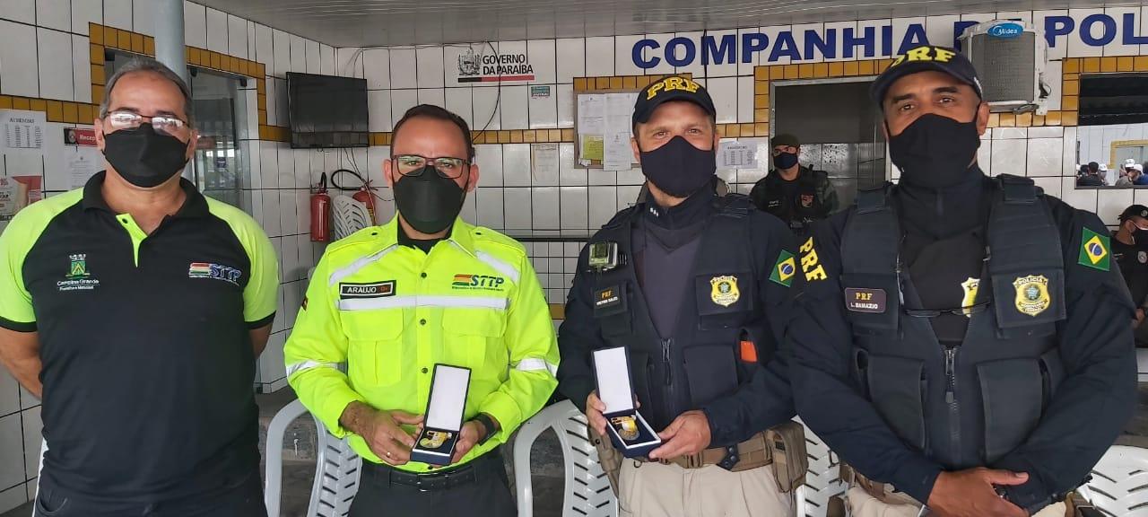 Superintendente da STTP e coordenador de Trânsito são homenageados pelo comando geral da Polícia Militar da Paraíba